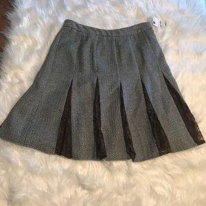 NWT Worthington Silver Sage Tweed Pleated Skirt